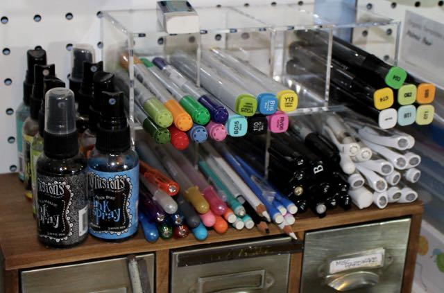journaling pens organized