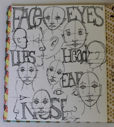Practicing faces.