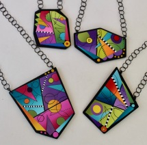 Yuhr-colorful pendant on chain 1
