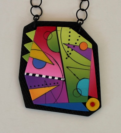 Yuhr-colorful pendant on chain