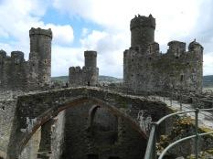 Interior view of Conwy Castle